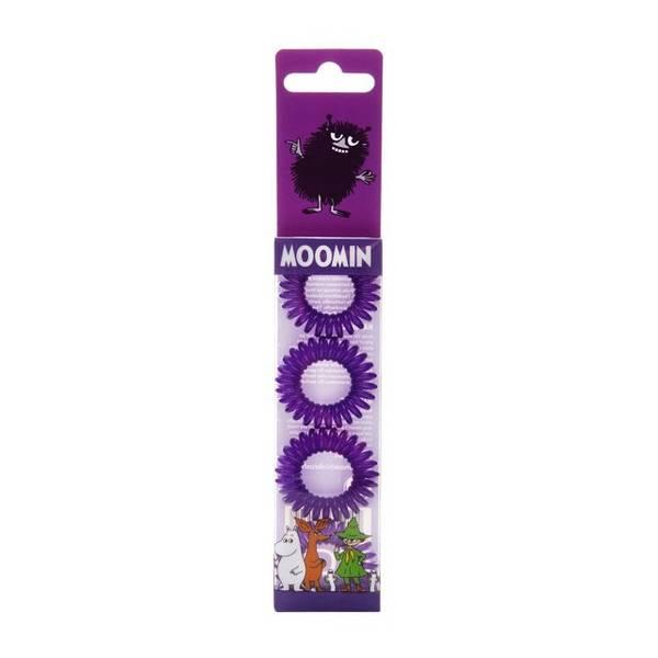 Bilde av Moomin Hair Ring Purple 4 stk/pk